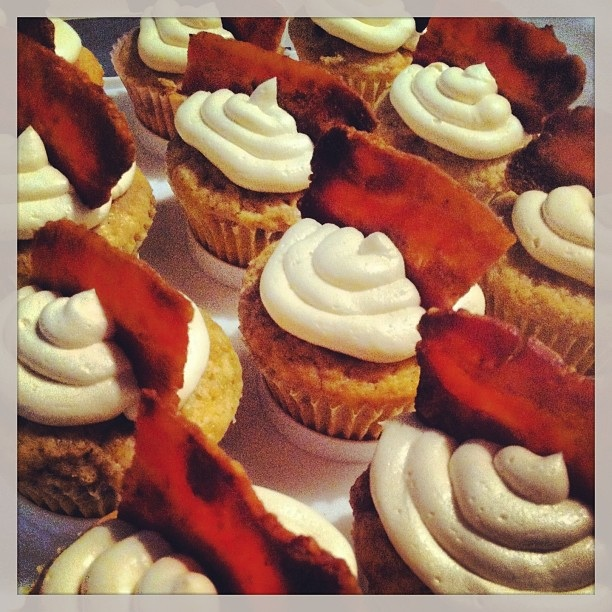 Bacon cupcakes instagram photo